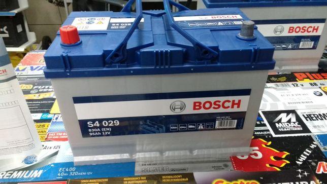 Akumulator Bosch S4029 12V 95Ah 830A G8 L+ dowóz montaż Kraków Azory