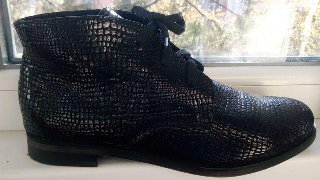 Демисезонные ботинки натуральная кожа, 39 р-р, 25,5 по стельке
