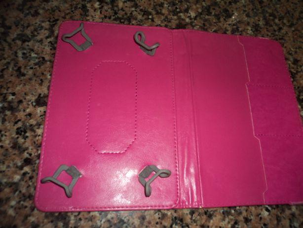 Capa cor de rosa para tablet ecra 8 ou 9