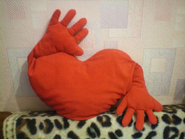 Подушка в форме сердца мягкая игрушка обнимашка