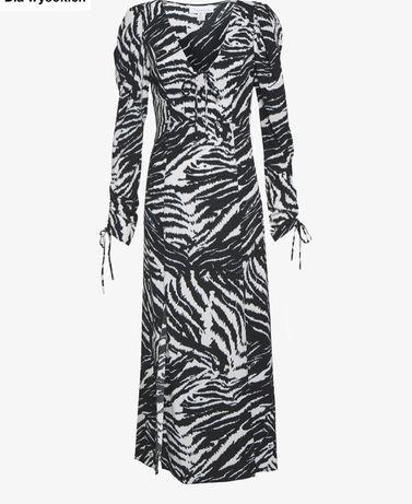 Sukienka nowa Top shop M modna zebra midi