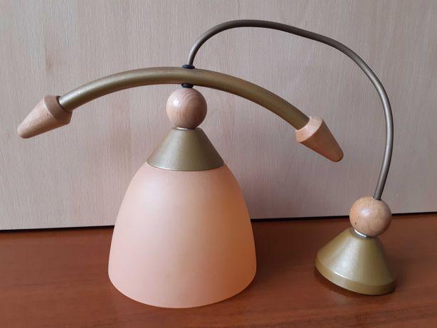 Lampa ozdobna wisząca ze szklanym kloszem żarówka E27