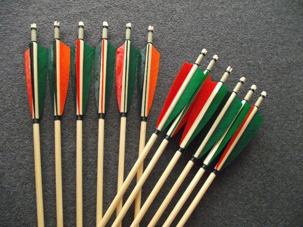45-50 świerk nr 571 Komplet strzał do łuku strzały strzała drewniana