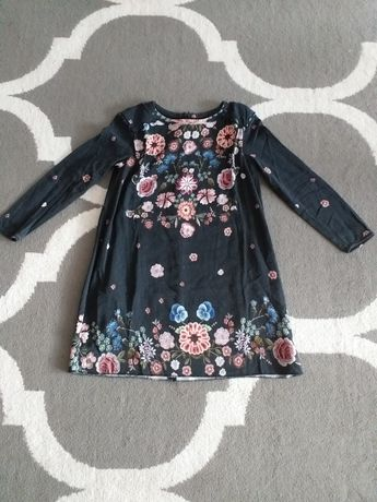Sukienka Zara 140 kwiatki boho