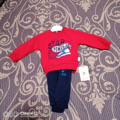 Теплый костюм костюмчик мальчик 6- 9-12 месяцев маломерит