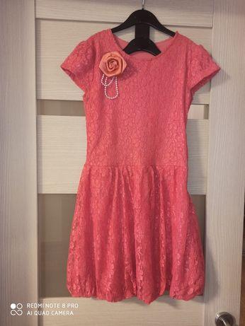 Продам  платье кораллового цвета   .