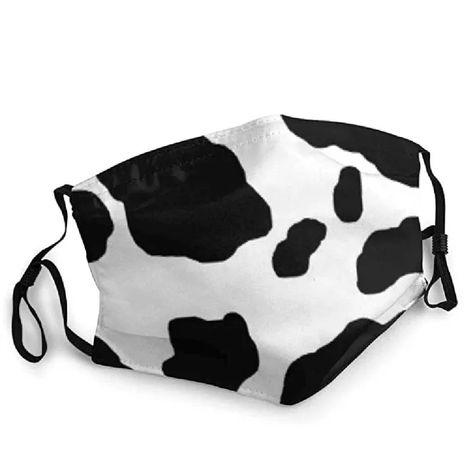Maseczka ochronna maska laty czarno biała krowa