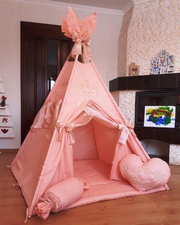 Детская палатка вигвам, домик, шалаш. Оплата при получении..ХИТ 2020