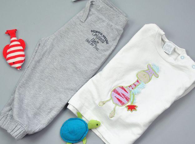 C&A 86 chłopięcy zestaw ZEBRA DRESOWY dres joggery bluzka Baby Club