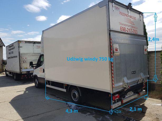 Przeprowadzki 24h/7,transport mebli,magazynowanie auta z windąWolneTer