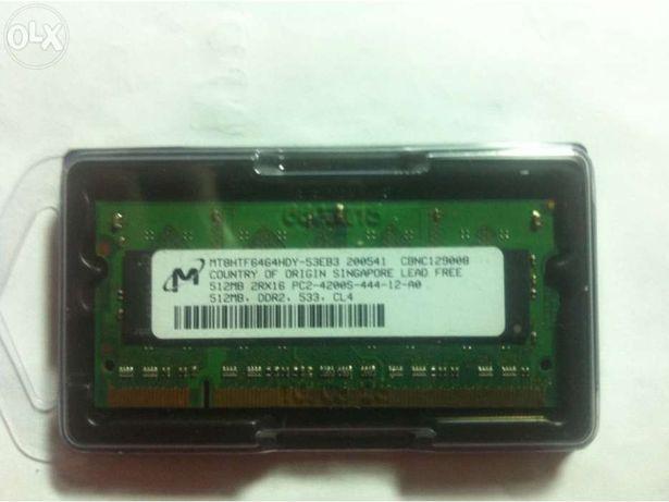 Memória RAM ddr2 512mb laptop