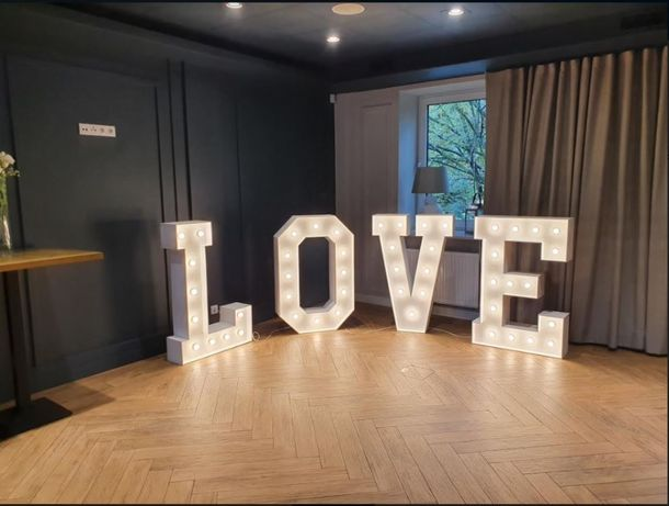 Napis Love - Ślask / Małopolska - 2 kolory żarówek! Biały ciepły/zimny