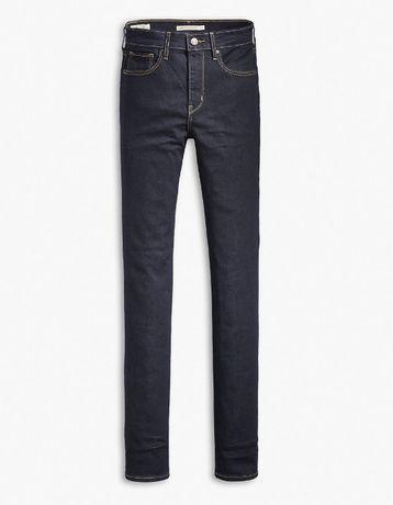 Damskie jeansy spodnie LEVI'S 724 high rise straight jeans 32 granatow