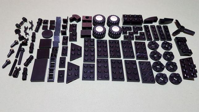 Klocki lego na sztuki, luz czarne Mix 87szt