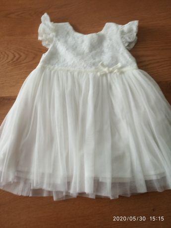 Sukienka r. 80 chrzest