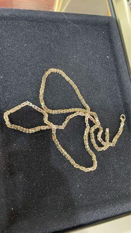 52g / Splot królewski łańcuszek złoty p.585 14k (pełny) CECHOWANY