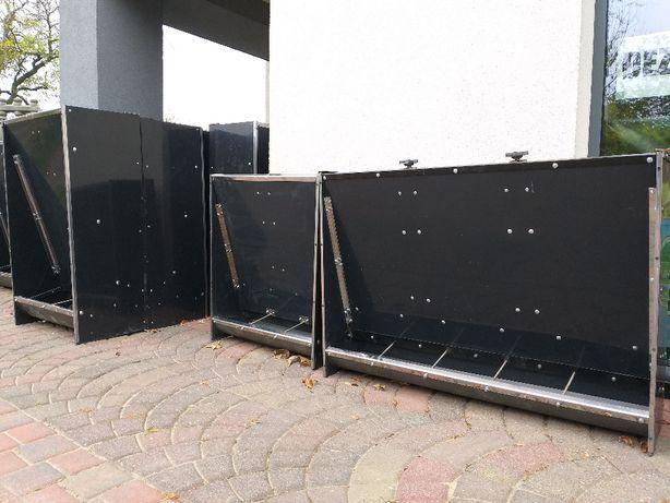 Automat paszowy trzystanowiskowy dla tuczników/karmniki dla warchlaków