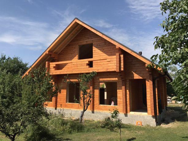 Деревянный дом, дача 120м 27600$ сруб WonderWood эко брус, заказ Киев