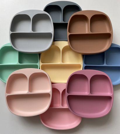 Силиконовая секционная тарелка коврик  Силіконовий посуд прикорм