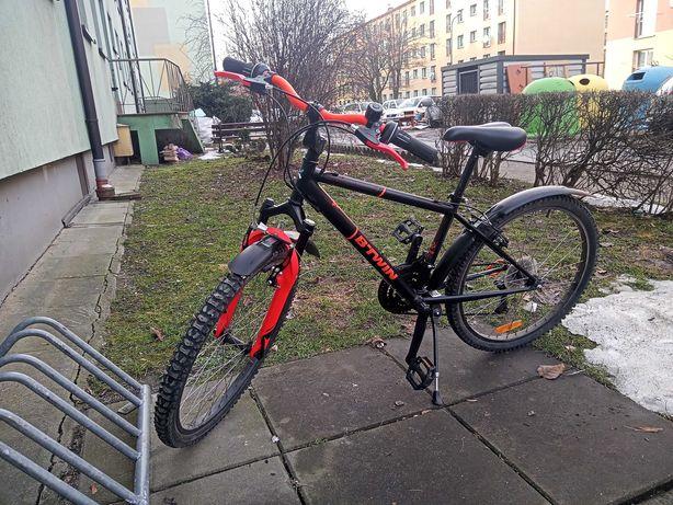 """Sprzedam rower B'Twin-24"""". Rower dla dziecka 8-11 lat"""