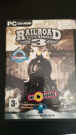 """Jogo PC """"RailRoad Tycoon 3"""" (Optimo Estado)"""