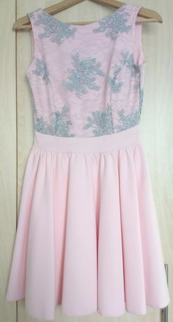 Sukienka, pudrowy róż