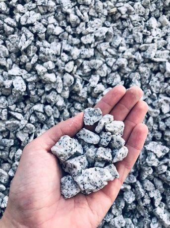 Grys Granitowy Kamień DALMATYŃCZYK 8-16 i 16-22 mm Granit do Ogrodu