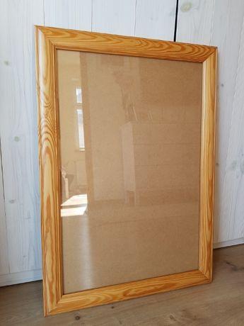 Rama drewniana, sosnowa, ramka, szkło 40x60 cm