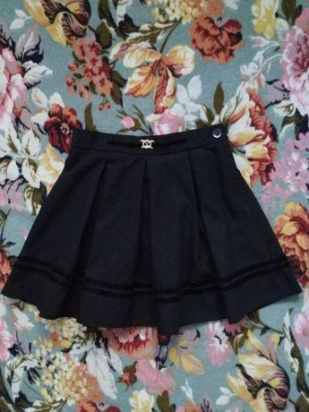 Черная школьная юбка для девочки 6-7 лет