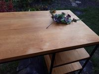 Biurko loft/industrialne lite drewno.