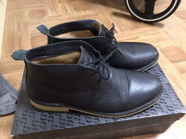 Чоловічі шкіряні туфлі демісезон осінні мужские кожаные туфли черные
