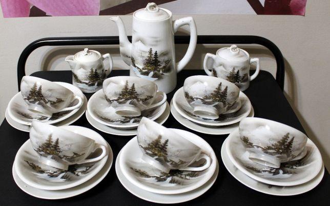 Japoński serwis do herbaty Soko China EggShell 6os
