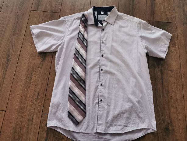 Koszula z krawatem lekki fiolet 41/42