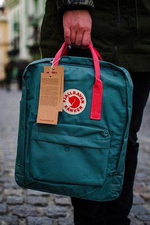 Fjallraven kanken Classic школьный рюкзак с лисой Канкен Голубой