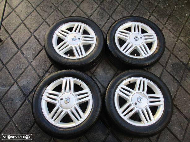 4 Jantes 16 Renault Com Pneus Furação 4x100 Clio Megane Scenic