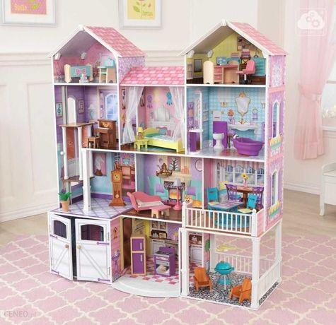 Bardzo duży drewniany,kolorowy domek dla lalek barbie ,firmy kidkraft