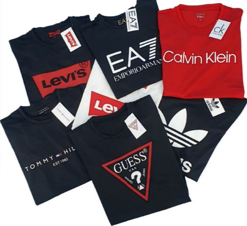 Mega koszulki z extra materiału Hugo boss Armani Calvin Klein