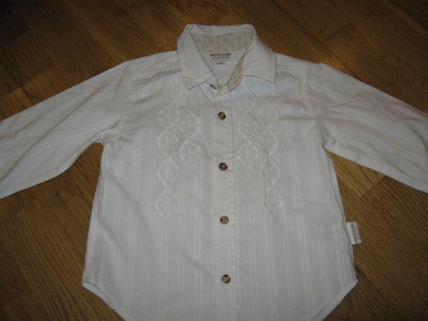 Хлопковая блуза (рубашка) на девочку 2-3-х лет