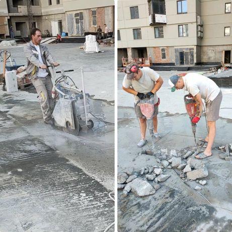 Алмазная резка. Сверление. Демонтаж. бетона, кирпича, проемов, штробы