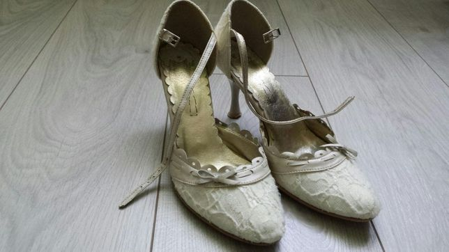 Buty ślubne ecru rozmiar 37