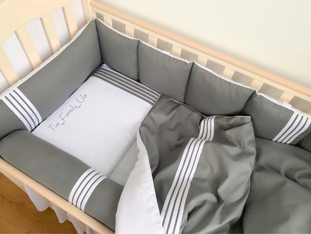 6 в 1! Детский постельный комплект, бортики в кроватку. Постіль дитяча