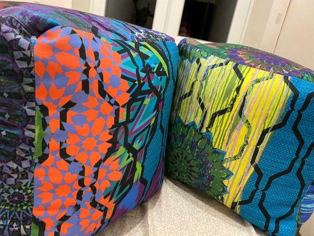 Продам дизайнерские пуфы квадратные с эксклюзивным рисунком Этно-Псай