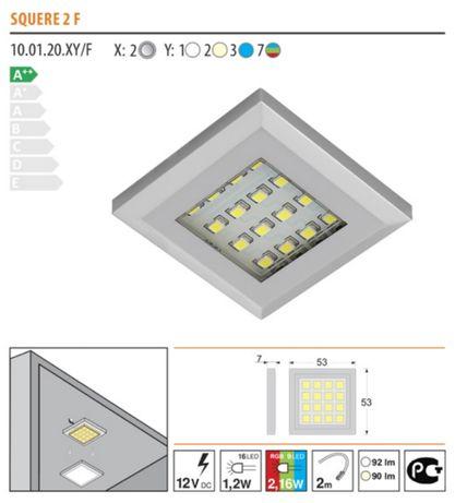 Oświetlenie LED, 6 x oprawa LED RGB 12V zestaw z pilotem.