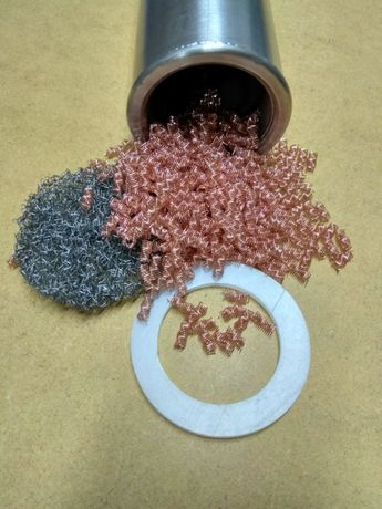 Filtr katalityczny wypelnienie sprezynki miedziane
