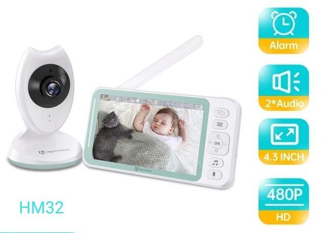 """Monitor bebé, intercomunicador vídeo, ecrã de 4.3"""" - Novo - Ref HM32"""