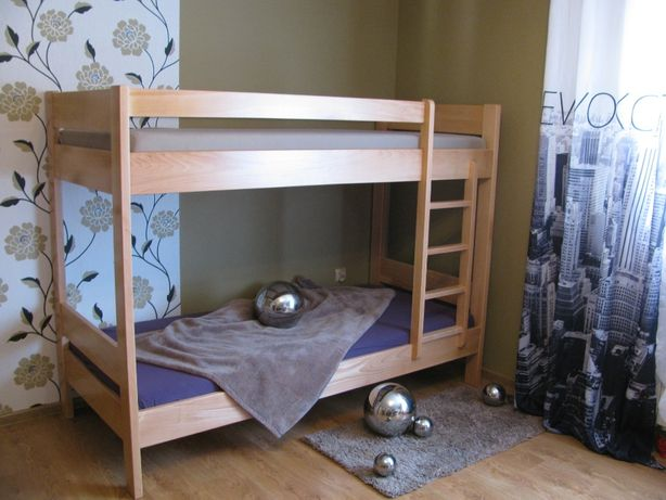 SOLIDNE drewniane łóżko piętrowe bukowe 100% lity buk PRODUCENT