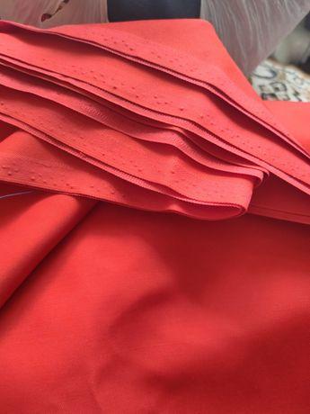 Плотная красная ткань 1,5×3 м