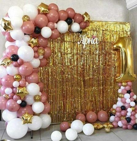 Фотозона из шаров, арки, гелевые шары, оформление праздников