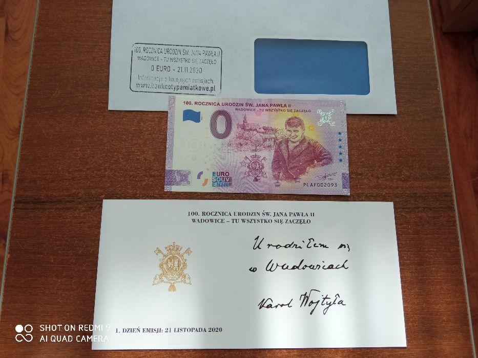 Banknot kolekcjonerski 0 euro Wadowice - UNC