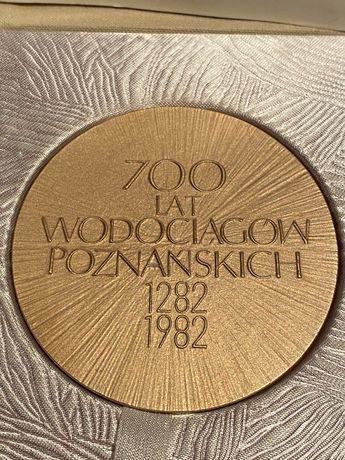 Medal 700 Lat Wodociągów Poznańskich 1982. Mennica Państwowa